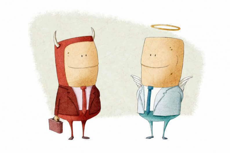 Godt og ondt mot hverandre