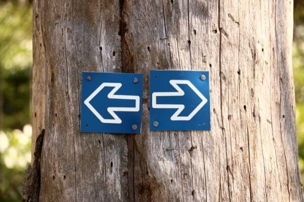 Piler til venstre og høyre
