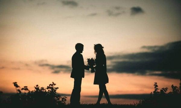 Par ute i solnedgang