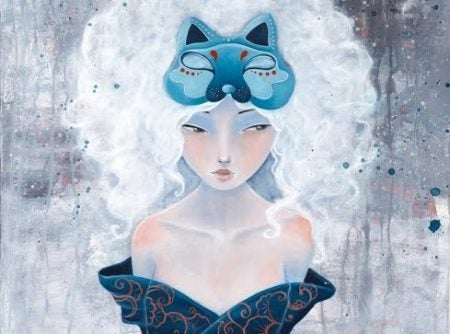 En ulv kvinne som konformerer seg til andre