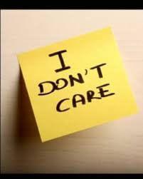 Jeg bryr meg ikke