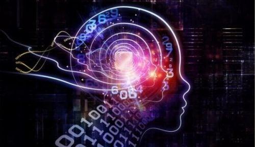 Tegning av hjerne med tall