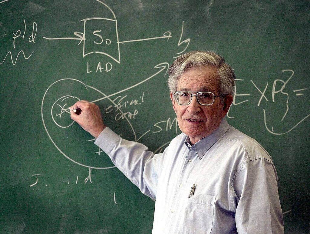 Noam Chomsky lærer mennesker masse