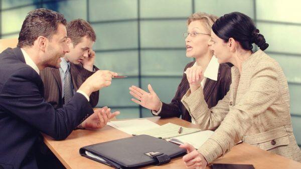 diskusjon på et møte