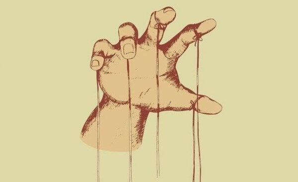 Hånd med tråder