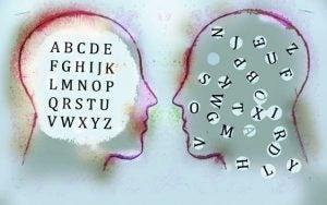 ansikter med bokstaver