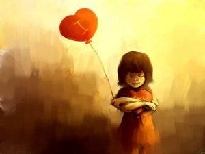 Jente med ballong