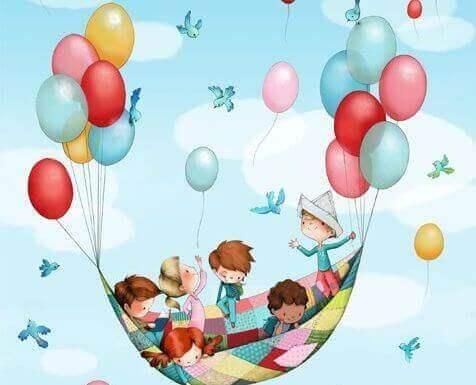 Barn og ballonger