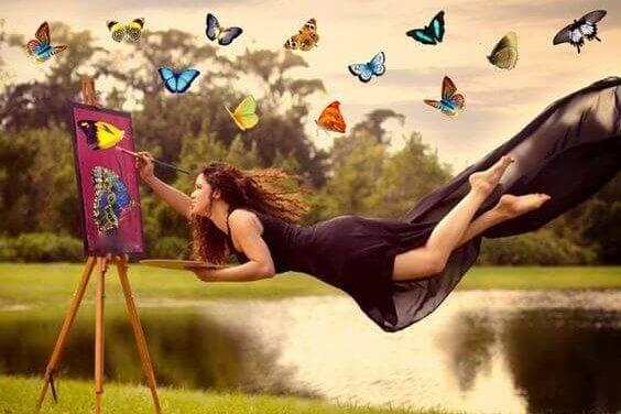kvinne maleri