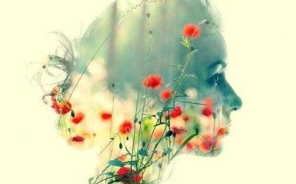 En blomst profil.