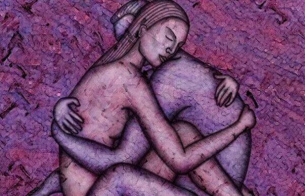 lilla par omfavner hverandre