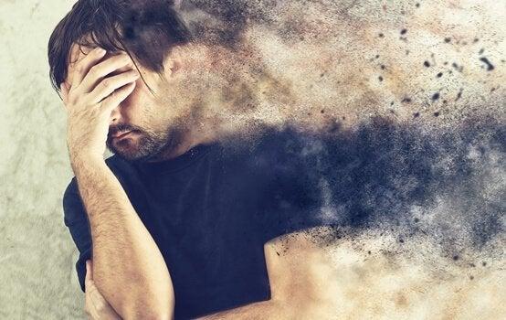 Mann med patologisk angst