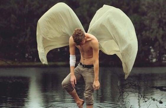 mann med vinger