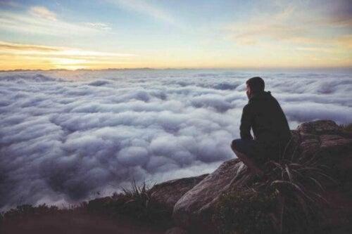 Mann på fjell