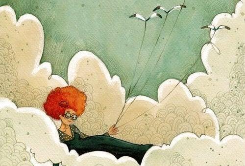 Kvinne i skyene
