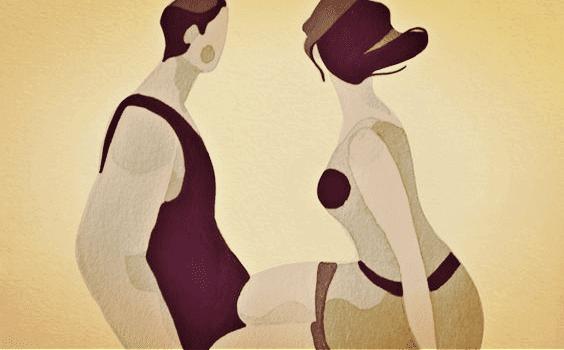 Mann og kvinne føler kjærlighet