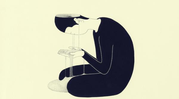 Deprimert person grunnet hukommelsestap.