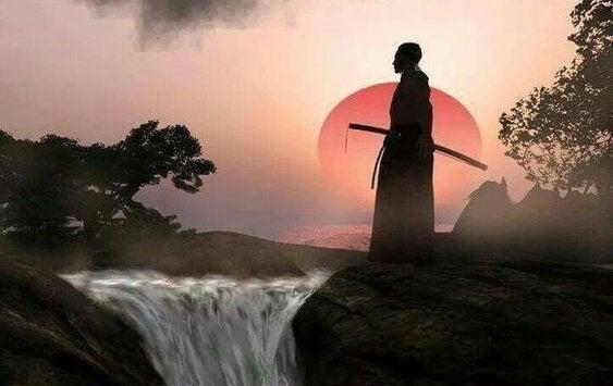 Samurai og foss