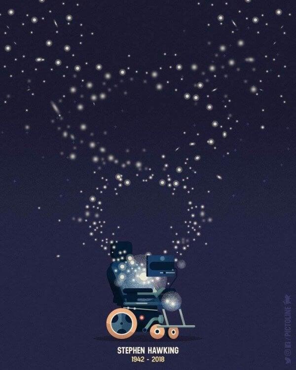 Sitater fra Stephen Hawking om mennesker