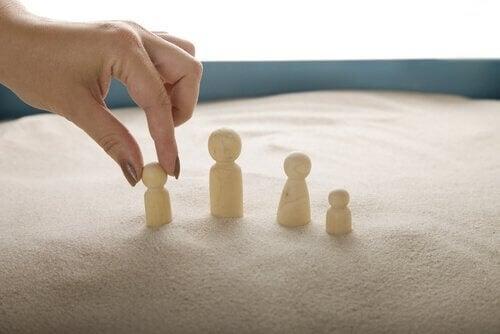 Sandkasseteknikken brukes spesielt for barn