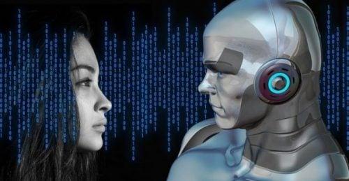 robot og menneske
