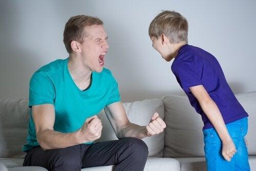 Far roper til barn