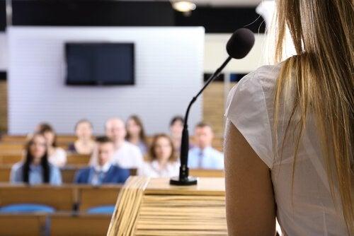Frykt for å snakke offentlig