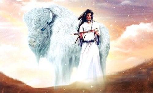 Den hvite Bøffelkvinnen: En indiansk legende