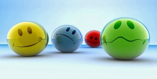 Emojis representerer forskjellige følelser