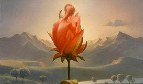 En rose som består av et nakent par