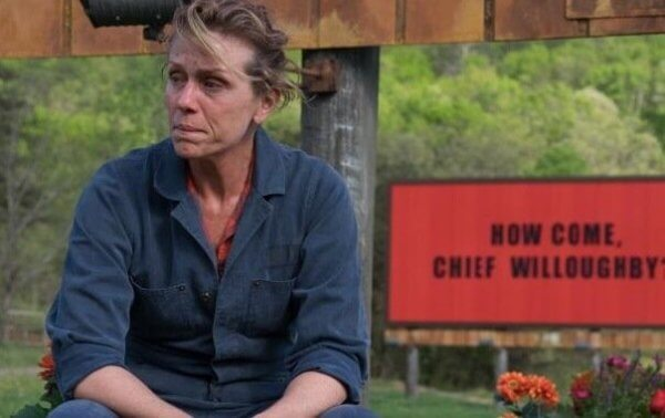 Frances McDormand i Three Billboards Outside Ebbing Missouri