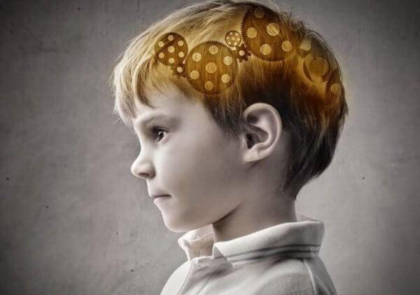 Gutt med tannhjul i hjernen