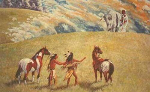 De to krigerne og Bøffelkvinnen