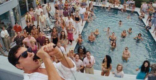 The Wolf of Wall Street svømmebasseng fest