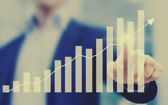 Stigende graf representerer økt produktivitet
