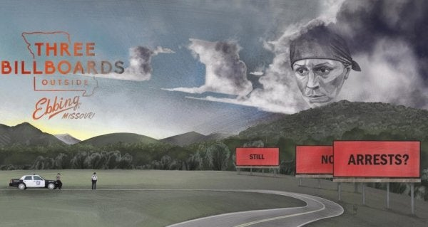 Plakat for Three Billboards Outside Ebbing, Missouri
