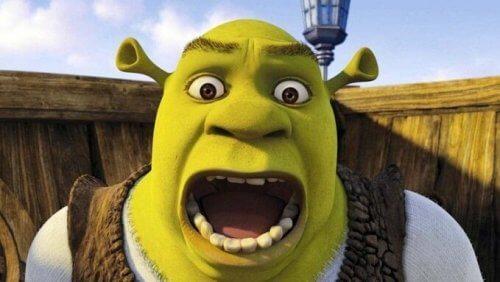 En skrikende Shrek
