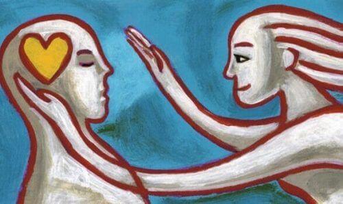tegning av kvinne og mann