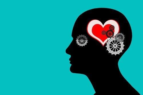 Formen av et hode med hjerte