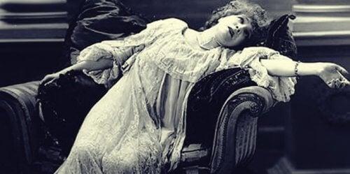 En hypnotisert kvinne
