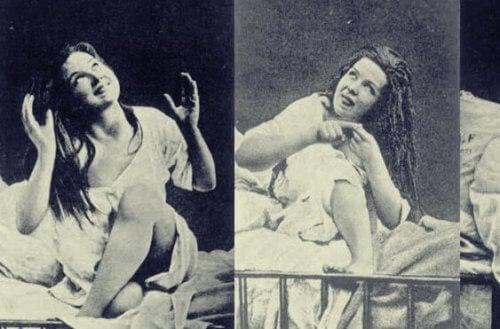 Kvinne med hysteri