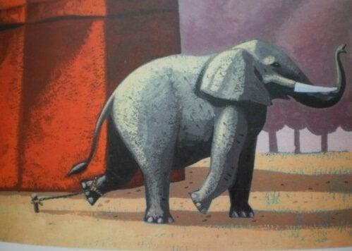 Den vakre historien om den lenkede elefanten