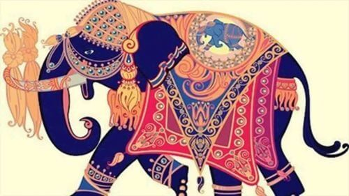 Elefanten og hans giftering, en vakker historie