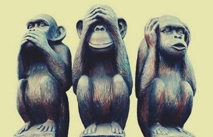 De tre vise aper: metafor for å hjelpe deg med å leve et lykkelig liv