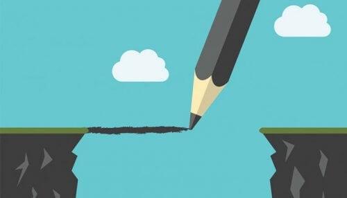 Jungisk terapi - blyant tegner en bro