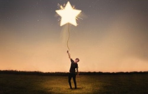 En fyr med en stjerneballong ved hjelp av teorien om små seiere