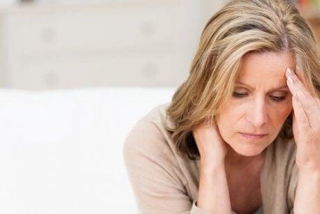 En trist kvinne med type c personlighet