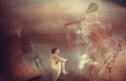 Jente tenker på de mange metaforiske fyrtårnene i hennes liv.