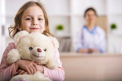 Jente på sykehus