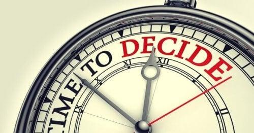På tide å bestemme seg
